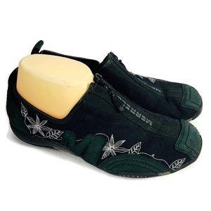 Merrlle Black Leather Trim Barrado Sport Shoes GUC